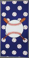 bola de toalha de banho venda por atacado-Toalhas de beisebol da moda 5 cores 75 * 150 cm toalha de banho de esportes de alta qualidade toalha de praia toalha de futebol de softball adultos toalhas de bola