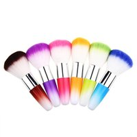 Wholesale hair nail fashion resale online - Fashion multi color makeup brush short handle dust brushs nail universal brush nylon hair beauty tools Blush brush FA010