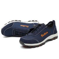 9e1bfdd9c5 Homens casuais tamanho grande biqueira de aço respirável sapatos de  segurança de trabalho não-deslizamento local de construção trabalhador  vestidos botas de ...