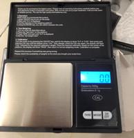 skalen gramm großhandel-500g 0,1g Präzision Schmuck Skala Für Gold Bijoux Diamant Schwarz Mini Tasche digitale skala Tragbare Gewicht Balance Gramm