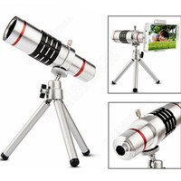 Wholesale telescope optical zoom for sale - New Universal X Magnification Zoom Metal Optical Mobile Phone Telescope Telephoto Camera Lens With Clip Tripod For iphone iPhone Plus
