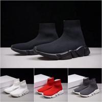Wholesale Toe Sports Socks - 2018 New Paris Luxury Sock Shoe Speed Running Shoes Sneakers Speed Trainer Sock Race Runners Shoes men women Sports Boots Free Shipping