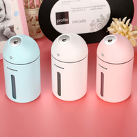 Wholesale humidifier bottle - USB DC5V Power Ultrasonic Humidifier Cute C9 Household Aroma Oil Diffuser 35ML H Water Spray Bottle