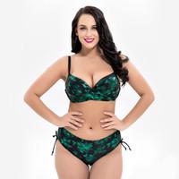 biquínis xs venda por atacado-2018 Plus Size Mulheres Swimwear Push up Sexy Impressão Bikinis Set Beach Wear Maiô Biquini XXXL