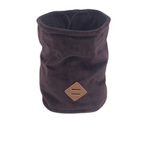 Wholesale knitting cowl scarf resale online - Plus velvet Warm Knit Scarf Men Solid Winter Cowl Neck Shawl Ring Neckerchief A2