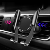 porta-células venda por atacado-Suporte do telefone do carro universal de ventilação de ar clipe de montagem titular do telefone celular para iphone 360 graus de rotação titular do carro auto memery (varejo)