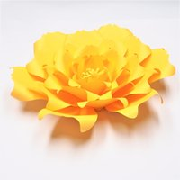 ingrosso asili nido-Golden Yellow 1 pezzo Giant Paper Flowers Nursery Wall Decor Wedding Party Decor Nuziale Doccia Baby Photo Sfondo grandi fiori