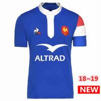 les vêtements achat en gros de-Meilleure Qualité 2018 2019 France Maillots de Rugby 18 19 France Maillot Maillot Maillots Casual S-3xl Livraison Gratuite