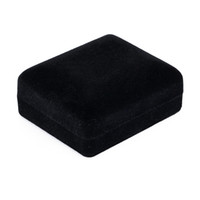 Wholesale velvet boxes tie - New Arrival Velvet Cufflinks Gift Box Gemelos Case Cuff link Tie Clip box Jewelry Case 39