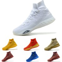 Wholesale Crazy Ups - 2018 Andrew Wiggins Crazy Explosive Primeknit Crystal White Trace Khaki knit mid sock boost for Men Basketball Shoes Basketball Sneakers