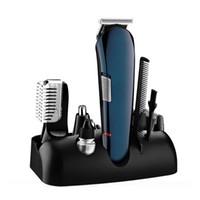 кусачки для волос для тела оптовых-5 в 1 мужская Уход Комплект Электрический Машинка Для Стрижки Волос USB Аккумуляторная Парикмахерская Машинка Для Стрижки Тела Бритвы Набор
