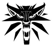 Wholesale Wolf Car Vinyl - 14.3*12.3CM Creative Car Styling Decal The Witcher Wolf Medallion Vinyl Car Stickers Black Silver S1-2265