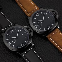 Wholesale clock for auto - 17 Styles Hot fashion little subdial work Casual Sport watch men Quartz Watches Men's leather Wristwatches Clock Relogio Super gift for men