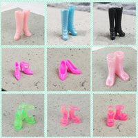 Wholesale platform muffin shoes for sale - Multiple Options Doll High Heeled Platform Shoes Fashion Color Waterproof Muffin Sandals Girl Simulation Dress Toy Accessories wj WW