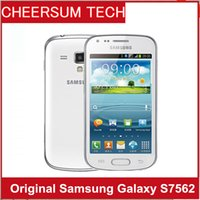 Wholesale unlocked gsm cell phones android resale online - S7562 Original phone Samsung galaxy Trend Duos s7562 dual sim cards GSM G Wifi GPS MP Camera Unlocked Cell phone Refurbished