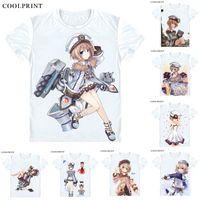 spieleprämien großhandel-A.K.A. Weißes Herz T-Shirt Hyperdimension Neptunia Choujigen Spiel Blanc Männer Casual T-Shirt Premium T-Shirt Kurzarm-Shirts gedruckt