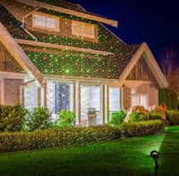 projetor projetado estrelas verde venda por atacado-Ao ar livre Movendo-se Full Sky Estrela Natal Lâmpada Do Projetor Laser VerdeVermelho LEVOU Luz Do Estágio Ao Ar Livre Paisagem Gramado Jardim luz