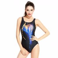 roupa de banho legging venda por atacado-2018 Profissional Competitivo Swimwear Mulheres Alta Corte Perna Impressão Digital Swimsuit Esporte Natação Ternos de Uma Peça