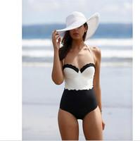 Wholesale Underwire Swimwear Women - S-XL monokini one piece swimsuit underwire push up swimsuits women floral hot swimwear one piece bathing suit plus size swimwear