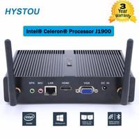mini pc linux achat en gros de-Vente chaude FMP06 Sans Ventilateur Intel Celeron Mini PC J1900 Quad Core 2.42GHz Windows7 / 8 Ordinateur De Forme Linux Double HDMI WiFi LAN TV Box