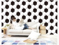 Wholesale large black white paintings for sale - Group buy 3D Wallpaper Custom d Mural Wallpaper World Cup Theme Football Black And White Art Mural for Living Room Large Painting Home Decor