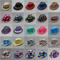 Wholesale cool caps for boys for sale - Group buy Fashion Cool Children Cap Mixing Style Hot Sale Jazz Caps For Boy Girl Hat Newborn Photography Prop Trilby gn aa