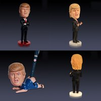 Wholesale made toys china online - Bobblehead President Donald Trump Car Decoration Make America Great Again Home Ornament Resin Novelty Doll Crafts Toy mr hh