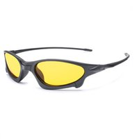 hd очки ночного видения оптовых-HD Night Vision Glasses Goggles Polarized Sunglasses 2018 New Brand Designer Yellow Night Driving Gafas erkek gunes gozlugu