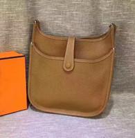 Wholesale mini red buckets resale online - Hot sale large capacity Litchi pattern Evelyn handbags handbags high quality Messenger bag luxury leather shoulder bag models