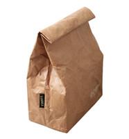 cajas de almuerzo aisladas rosadas al por mayor-Unisex 6L Kraftpaper Bolsas de almuerzo para mujeres, hombres, niños, bolsas a prueba de agua con aislamiento térmico, bolsa de picnic plegable de aluminio térmico