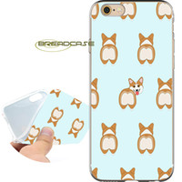 Wholesale super cute iphone cases - Super Cute Corgi Dog Clear Soft TPU Silicone Fundas Cases for iPhone 10 X 7 8 6S 6 Plus 5S 5 SE 5C 4S 4 iPod Touch 6 5 Cover.