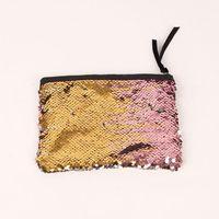 модные сумки дамы стороны оптовых-Оптовая новая мода косметический мешок двусторонняя блестки Сумка женская мода вечернее изменение карман леди девушки ужин сумка