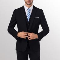 tek parça tatil amaçlı takım elbiseleri toptan satış-Erkekler Slim Fit İş Eğlence Damat Düğün için Bir Düğme Resmi İki Parça Suit