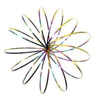 ingrosso set di giocattoli barbie-Anelli di flusso multicolore arcobaleno Giocattolo magico in acciaio inox olografico mentre si muove crea un effetto cinetico ad anello