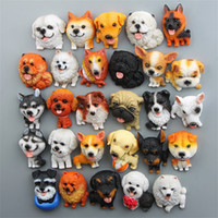 Wholesale dog magnets - Novelty Style DIY Pet Refrigerator Magnet Creative Sleeping Series Dog Fridge Magnets Cartoon For Home Decoration Supplies 6yr XB