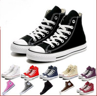 Wholesale white sneakers low price - Factory price femininas canvas shoes women and men high Low Style Classic Canvas Shoes Sneakers Canvas Shoe big size35-46 Drop ship