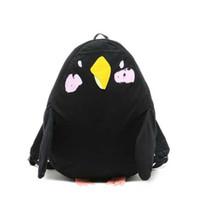 kuş sırt çantaları toptan satış-Japon Sevimli Hayvan Sırt Çantaları Papağan Kuş Şekli Genç Kız için Okul Çantaları Kawaii Mochila Feminina Büyük Seyahat Sırt Çantası Q173