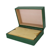 Wholesale Wood Boxes Cheap - Good quality cheap luxury wooden packaging green watch boxes with pillow wholesale charm wood gift box for watch