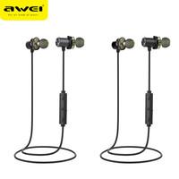 dual-treiber-kopfhörer groihandel-AWEI Neueste X650BL Bluetooth Headset Dual Driver Drahtlose Kopfhörer Bluetooth Kopfhörer mit Mic Super Bass Earbuds für iPhone