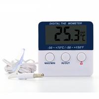 ingrosso serbatoi di pesce indoor-Mini LED Termometro elettronico Indoor-Outdoor misuratore di temperatura Monitor frigorifero / fabbrica / Fish Tank / Termometro casa con sonda TH022