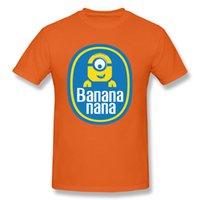 ingrosso cita i cartoni animati-Banana Nana Maglietta Minions Maglietta Uomo Nero Abbigliamento Divertente Preventivo Maglietta 3D Cartoon Top Tees Plus Size