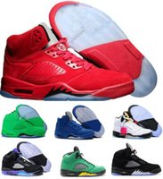 Wholesale M Ducks - Cheap 5 Basketball Shoes Mens Women 5s V Red Suede Cement Olympic Grape Prem Oregon Ducks Stars Zapatillas Homme Trainers Sport Shoe Sneaker