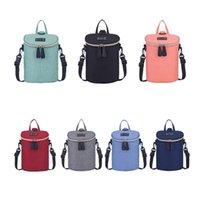 dış mekan yalıtım torbaları toptan satış-Bebek Bezi Sırt Çantası 7 Renkler Su Geçirmez Şişe Isı Koruma Yalıtım Annelik Bez Torba Açık Anne Saklama Torbaları OOA5768