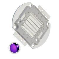 perles de puissance violet achat en gros de-La puissance élevée a mené la puce 50W Uv violet (405nm) L'émetteur de lumière ultraviolet SMD COB de composants diode 50 W la lampe d'ampoule ultra-violet perle l'éclairage de DIY