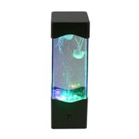 jellyfish tank al por mayor-Jellyfish Water Ball tanque de acuario luces LED lámpara relax luz de estado de ánimo de cabecera para la decoración del hogar lámpara mágica regalo barco de la gota 2018
