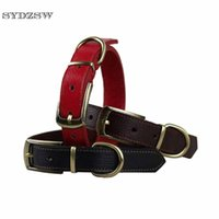 Wholesale Extra Strong - SYDZSW Pet Dog Collar Simple Style Leather Collar Leads for Small and Large Dogs Strong and Durable Pet Products Dog Accessories