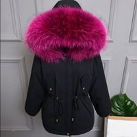 Wholesale down jackets uk for sale - Group buy US UK Women Winter Real Fur Collar White duck Down Coat and Jacket Female outwear