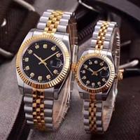 sevgilisi saatleri toptan satış-Lüks saatı Aşıklar Çiftler Stil Klasik Otomatik Hareket Mekanik Moda Erkekler Erkek Kadın Kadın İzle Saatler Kol