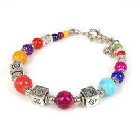 bijoux tibet venda por atacado-Lusão Marca Tibet Étnico Simples Quadrado Pulseira Para A Mulher Acessórios Bijoux Moda Collar Encantos pulseiras pulseiras