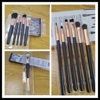 Wholesale makeup brush set online - hot black makeup brushes cosmetics Complexion Brush Set Nake Eyeshadow Palettes Foudation Makeup Brushes High Tech Make Up Tools Free shipp